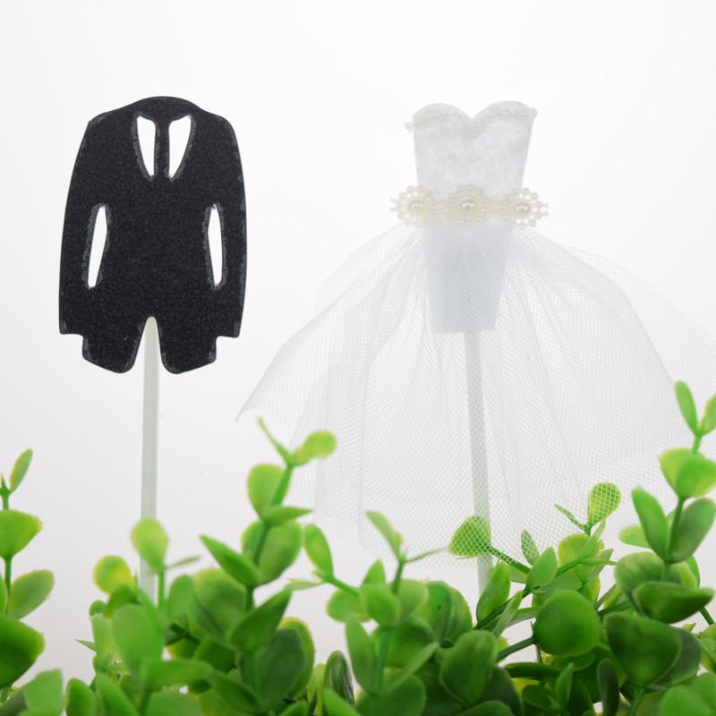 20 takım Mr Mrs Kek Toppers Bayraklar Damat Gelin Evlenmek Kek Kek Topper Çocuk Doğum Günü Düğün Pastası Parti Gelin Duş Pişirme DIY