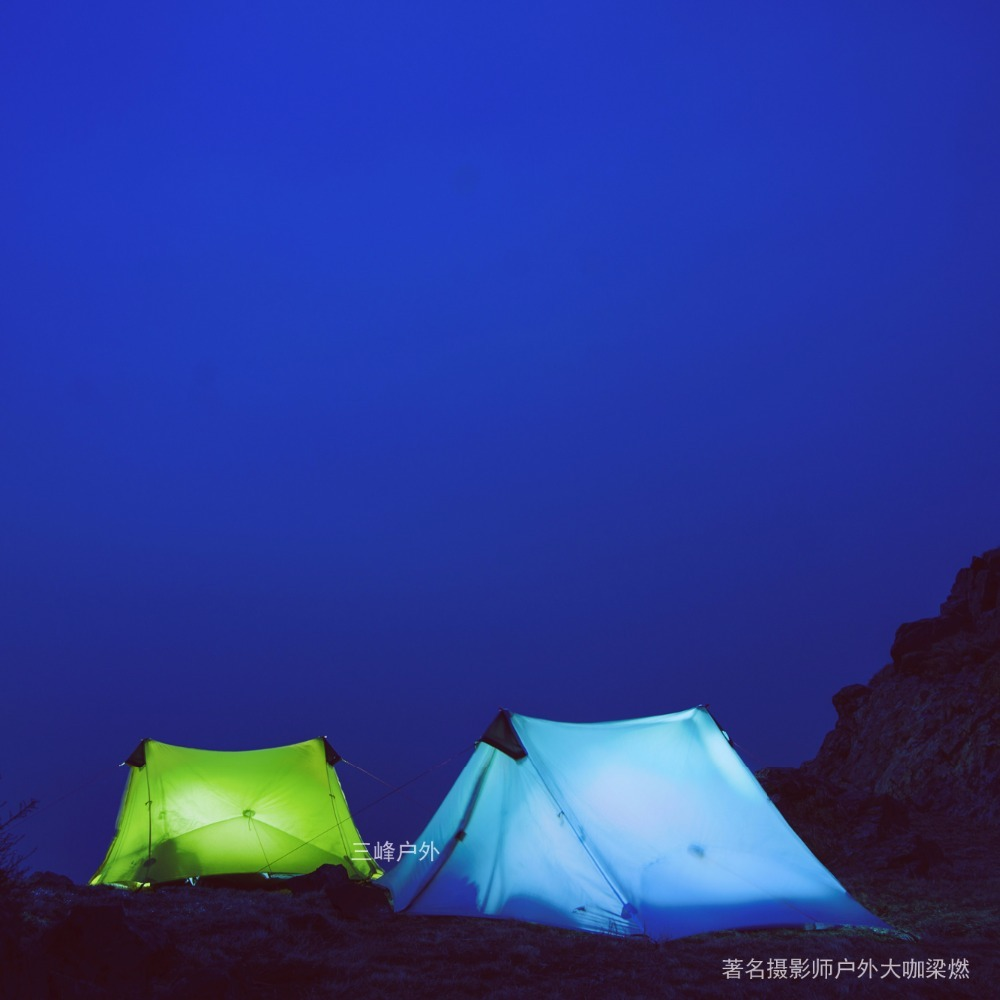 2019 3F UL Gear Outdoor Waterproof Portable Camping Tent Silicone Coated 15D Nylon Ripstop Fabric Hiking Backpacking Tent Double Laye