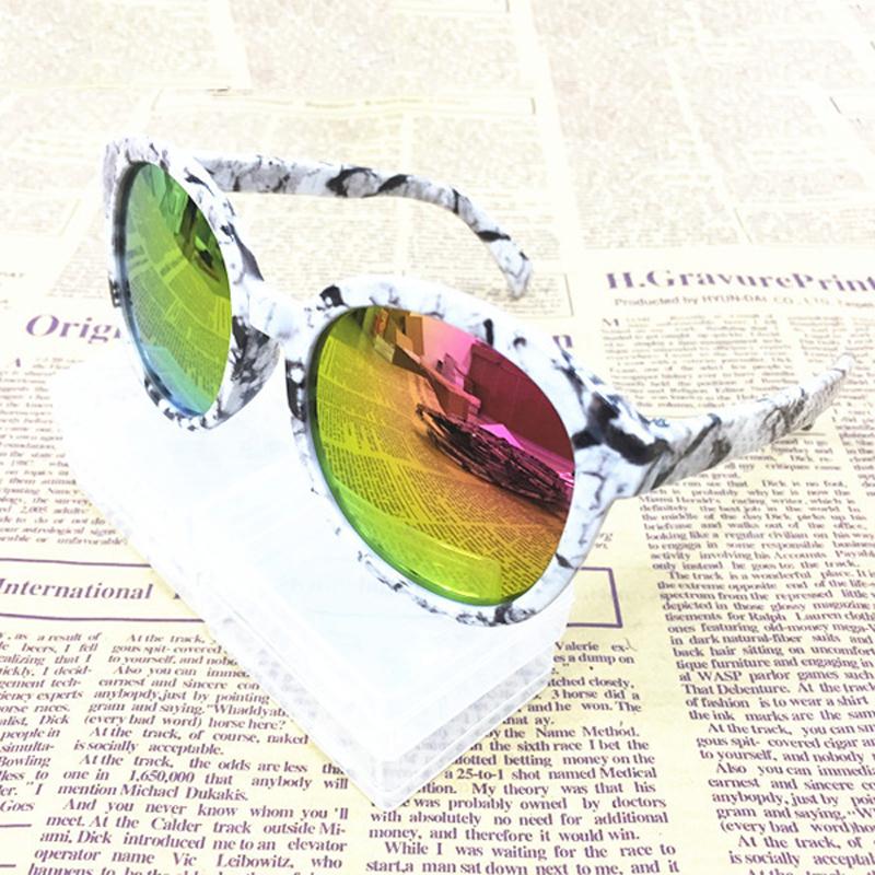 Korean Style Kids Hot Sale Fashion Colorful Personality Sunglasses Childrens Unisex Summer Anti-UV Pretty Sunglasses
