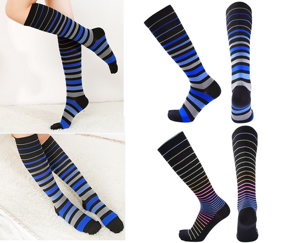Sopra il ginocchio Baby blu e bianco a righe Stripey Calzini Sox Coscia Alta a righe