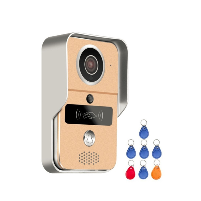 Wifi Video Doorbell 720P Smart Video Doorbell с RFID-картой Full Duplex Talk Поддержка Micro SD Card с Windows WIFI Видеодомофон
