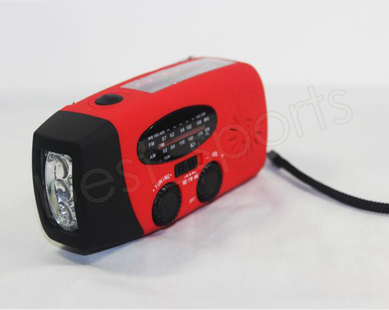 AM/FM/WB Solar Radio light Emergency Solar Hand Crank Power 3 LED Flashlight Electric Torch Dynamo Bright Lighting Lamp GGA969