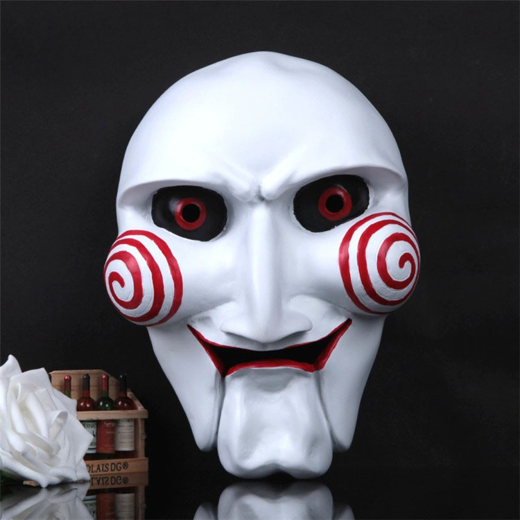 NEW Halloween Gift Electric Saw Mask Cosplay Party Horror Movie men Adult Full Face Mask Creepy Scary Resin High quality FA34 (8)
