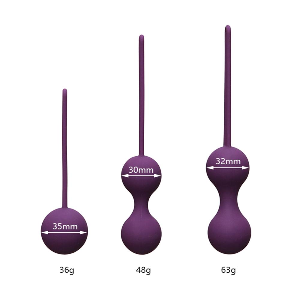 Silicone Smart Ball Kegel Ben Wa Ball Vaginal Tighten Exercise Machine Vibrators Vaginal Geisha Ball Sex Toys for Women Y18102606