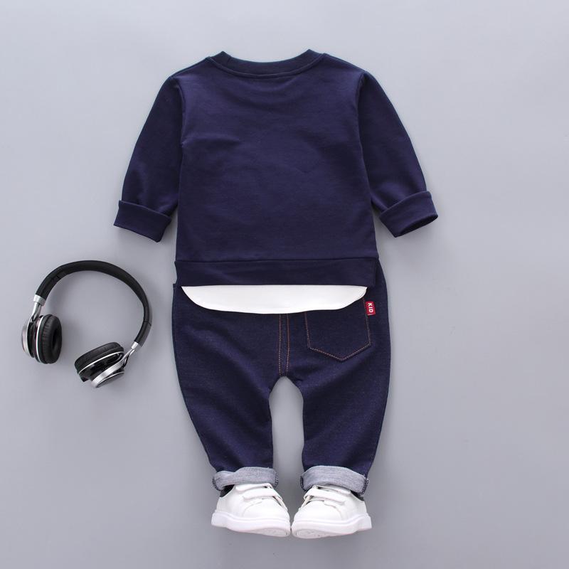 6M-4Y del bambino capretto del neonato copre gli insiemi manica lunga Leopard Top Pantaloni lunghi Outfit tuta i bambini che coprono Set