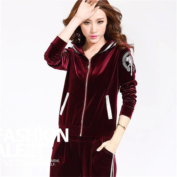 High-end-Women-Set-Brand-Velvet-Fabric-Tracksuits-Velour-2-Piece-Suit-Fashion-Printed-Hooded-Hoodies (2)