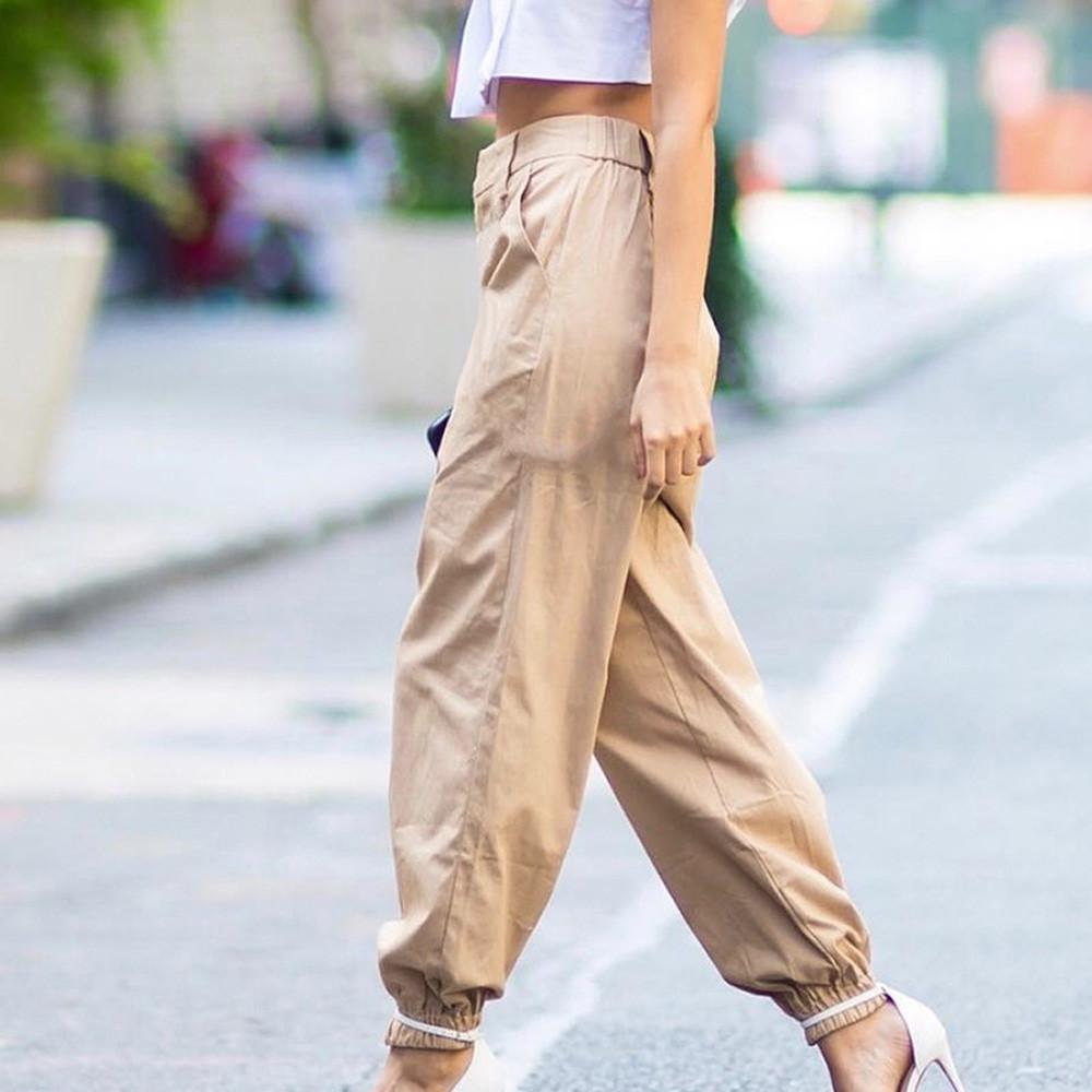 Womens Casual Harem Baggy Hip Hop Dans Ter Pantolon Slacks Pantolon Dipleri streetwear Kadın Yaz Gevşek Pantolon S18101606