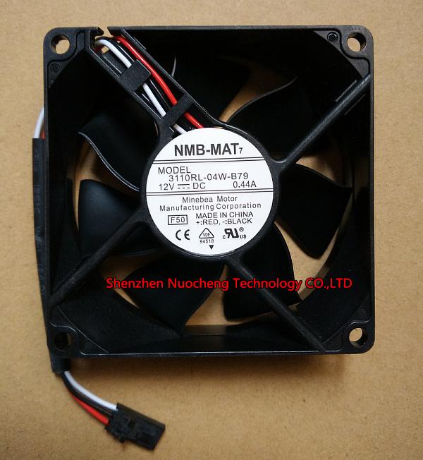 Original For NMB 3110RL-04W-B79 8025 DC12V 0.44A Server Cooling Axial fan