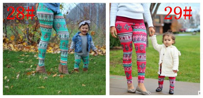 Girls & Mom Legging Xmas Snowflake Reindeer Pants Trousers Christmas Printed Leggings family Kids mother trousers KKA6039