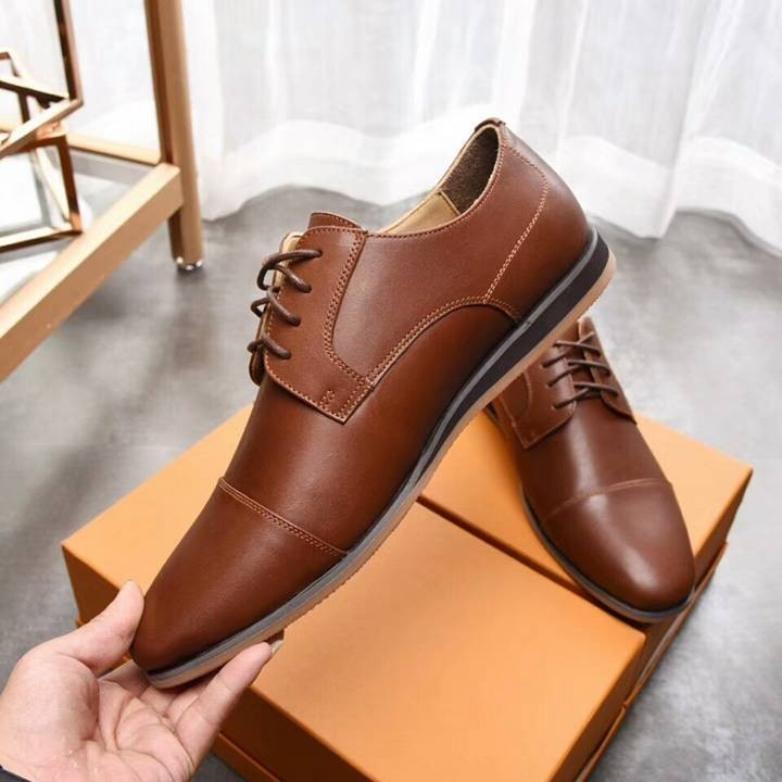 2018 autumn winter new fashion handsome dress male leather upper with the first layer of leather rubber wear-resistant outsole two colors