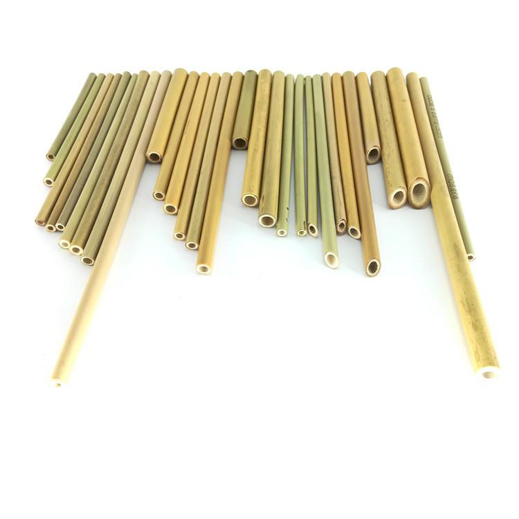 Pailles de bambou naturelles de 19.5cm pailles de consommation réutilisables en bambou écologiques réutilisables écologiques pailles de consommation naturelles DHL