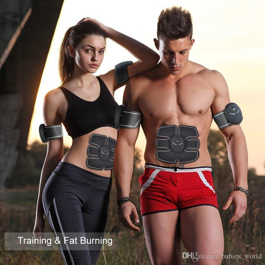 Electrical Muscle Stimulation Abdominal Trainers Muscle Toner Core Arm Muscles Abs Body Pad Sculpting Abdominal Toning Belt FEA01