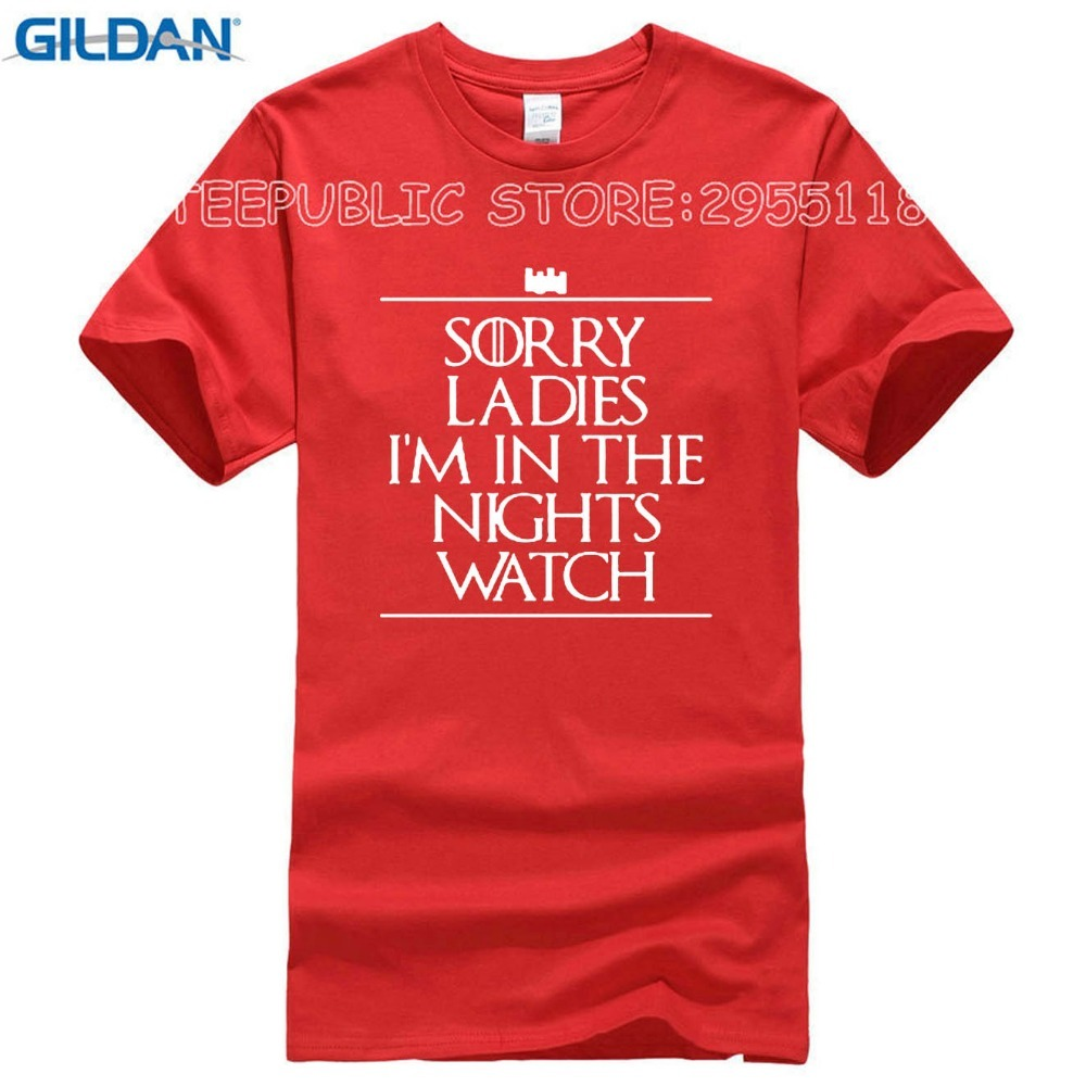 New Summer T-Shirts For Men Male Sorry Ladies I