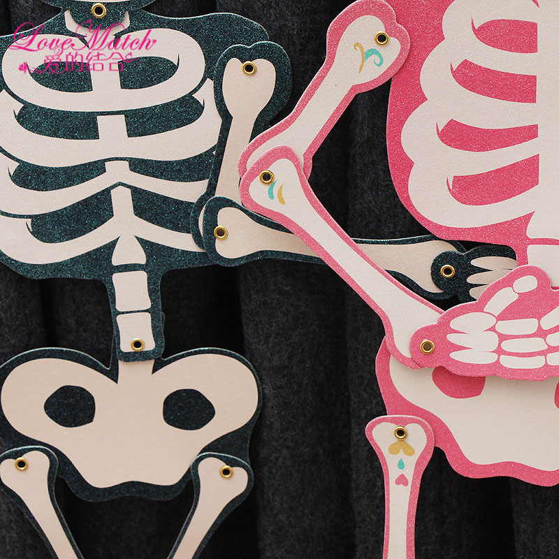Horror Movable Skeleton Halloween Props Kids Toy Halloween Bar Party Decorations Halloween Supplies for KidsWoman and Man