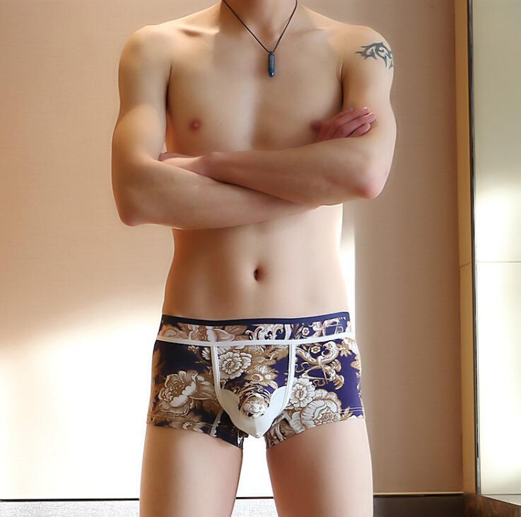 Herren Atmungsaktiv Unterwäsche Trunks Mann Slips Briefs Boxershorts Unterhose^\