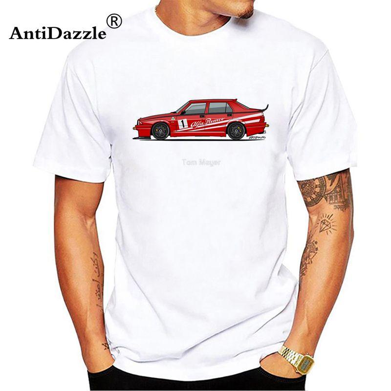 Antidazzle Camiseta Menino 100 Algodão Alfa Romeo 75 Desenhos de Manga Curta O Pescoço Tshirt Adolescente T-shirt 2017 Engraçado T-shirt Para O Homem