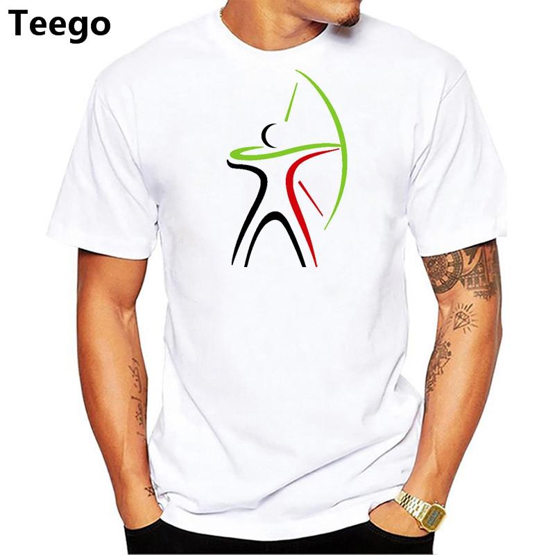 2018 moda verão estilo tiro com arco impressão camiseta