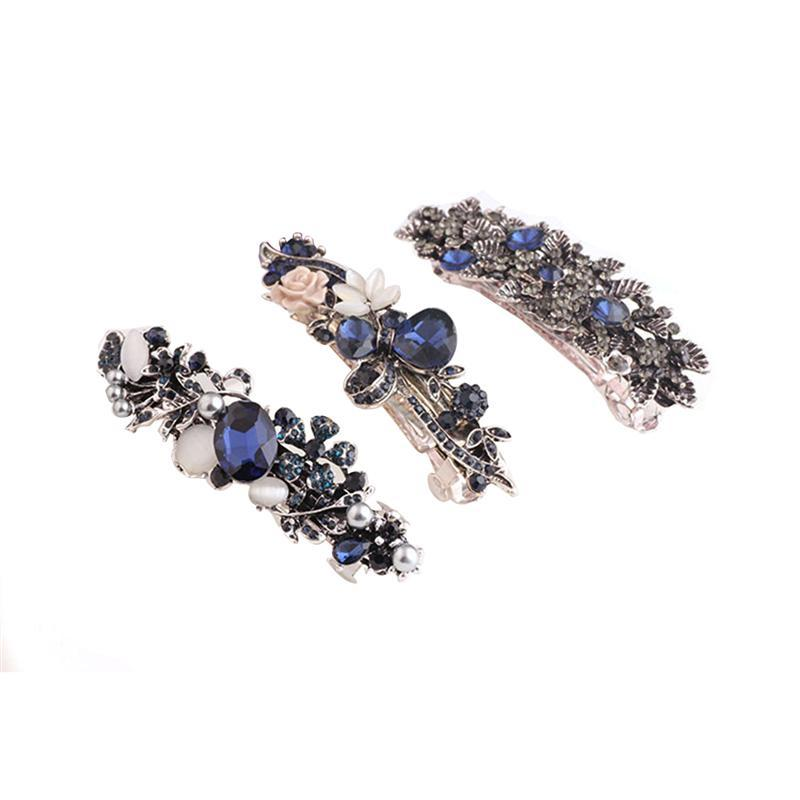 Crystal Rhinestones Barrettes Bridal Fashion Jewelry Accessory Barrettes Hair Clip for Women Girls Bride C18110901