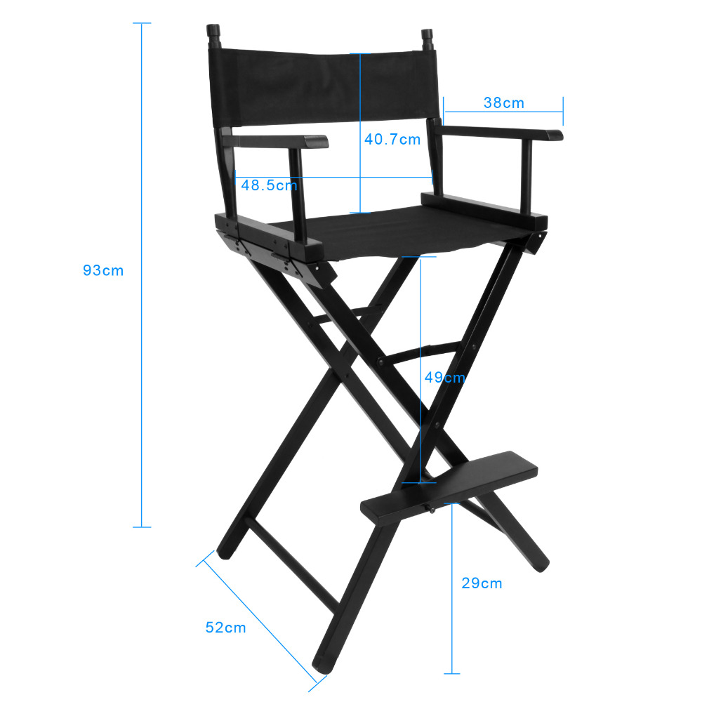 93cm Artist Director Chair Foldable Outdoor Furniture Photography Accessorice Portable Folding Director Makeup Chair (3)