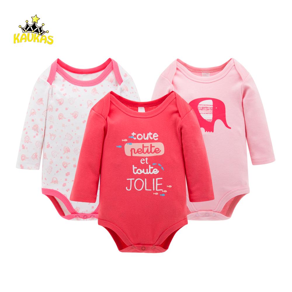 Infant Baby Girls Clothes Set Romper Long Sleeve Cotton Pants Jumpsuit Bodysuits