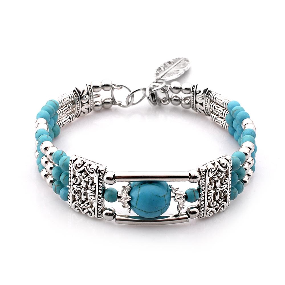 Big 25 mm Coeur pierre Turquoise Gemstone Pendentifs Charms Perles Artisanat bleu veiné