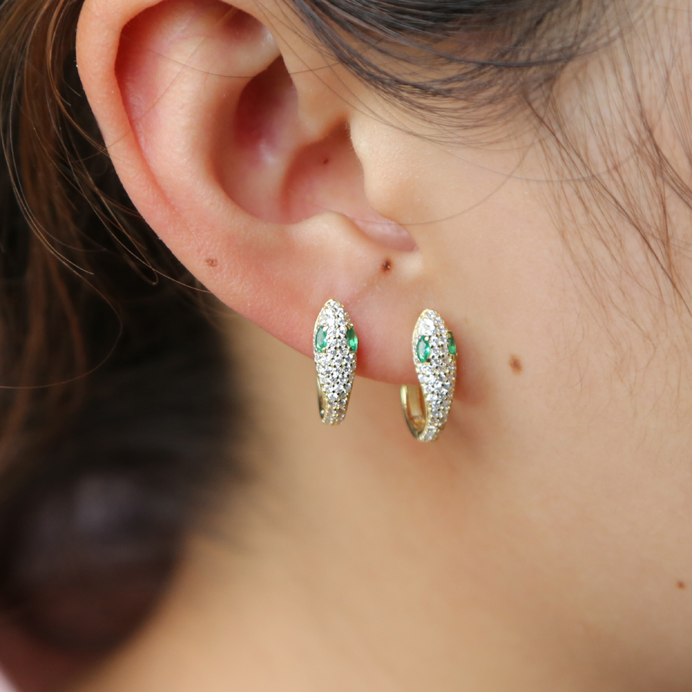 Hearts Hoop Earrings 925 Solid Sterling Silver Pave Womens Circle Huggie Clip