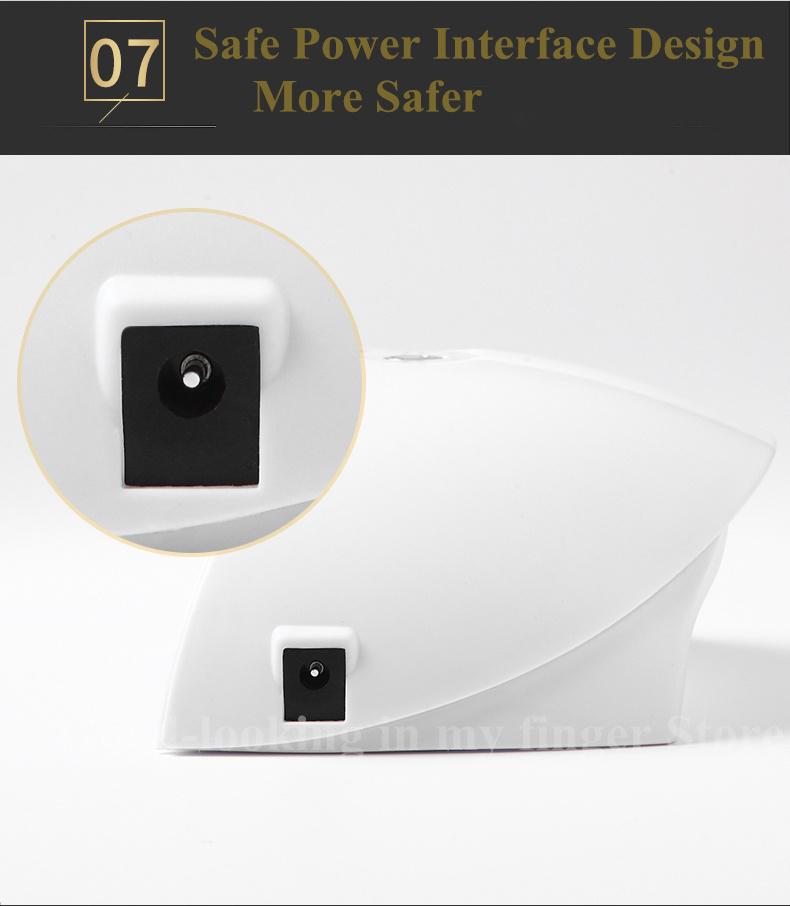 36W UV LED Lámpara de uñas 12 LEDs Secador de uñas para todos los geles Polaco Botón de manicura Perfect Thumb Solution USB Carga D18111302