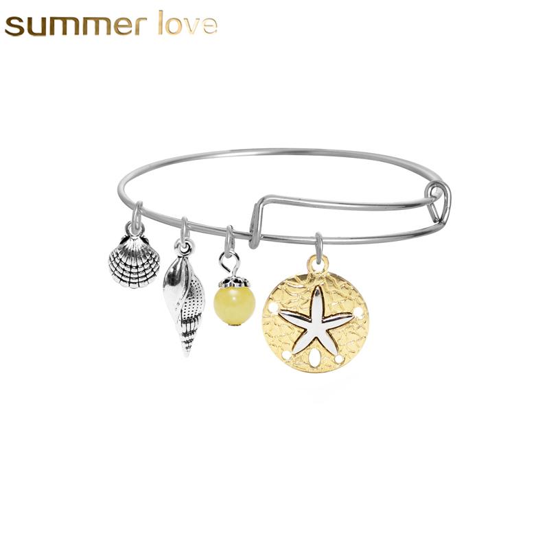 Les femmes Shell Beach Tassel Pied Bracelet Coquillages Nautique Bracelet Bracelet w