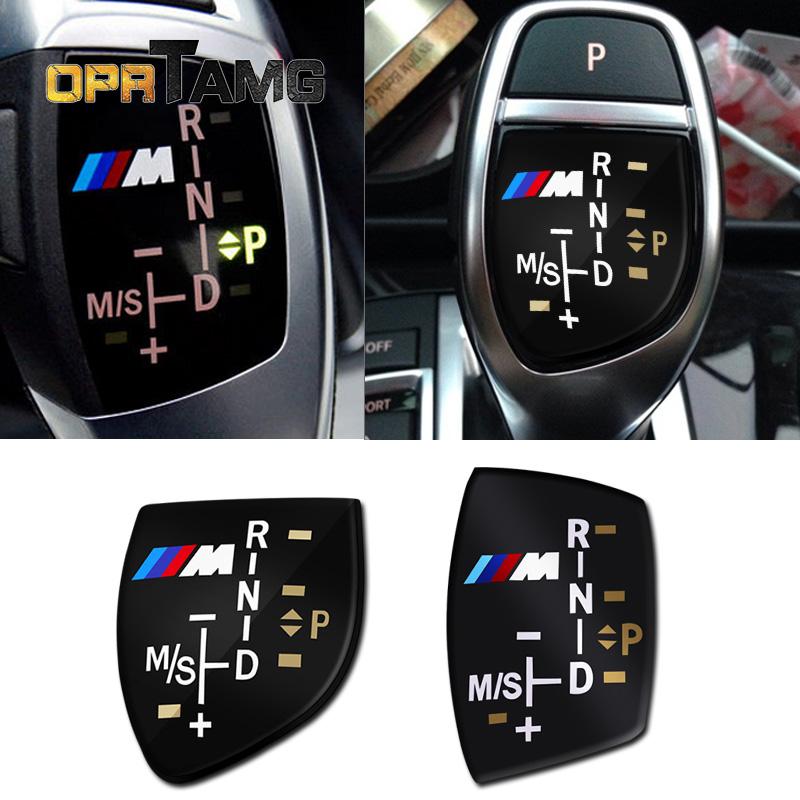 High Quality 3D M logo Gear Shift Knob Sticker Cover For BMW X6 M3 M5 325i 328 F30 F35 F18 F20 F21 GT 3 5 Series car accessories
