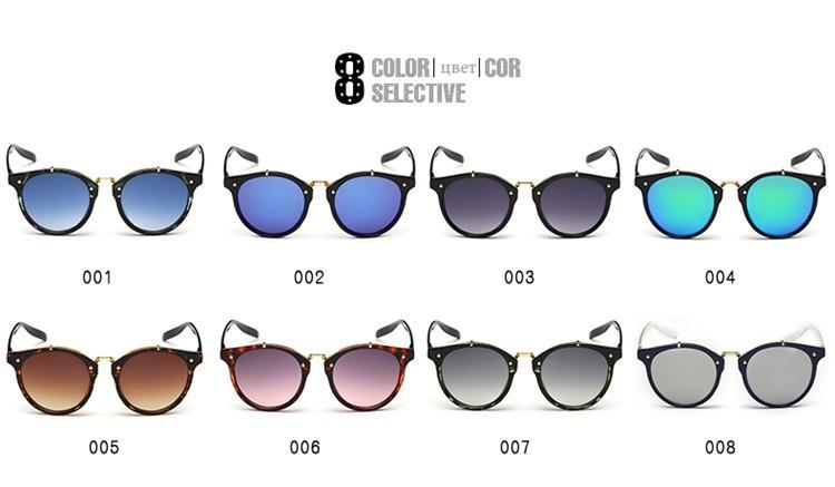 2016 Classic Brand Designer Sunglasses Women Men Retro Round Sun Glasses Woman shades Mirror Eyewear Lady Male Female Sunglass (21)