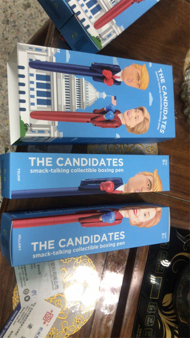 2019 The Candidate Donald Trump Decompression Boxing Pen Hillary Design President Pens America Great USA Intelligent Toys Pen Fancy Gifts