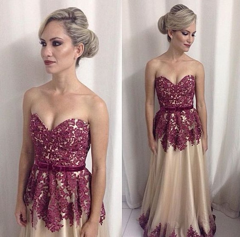 Dark Red Lace A Line Pageant Evening Dresses Women's Champagne Tulle Custom Bridal Gown Special Occasion Prom Bridesmaid Party Dress