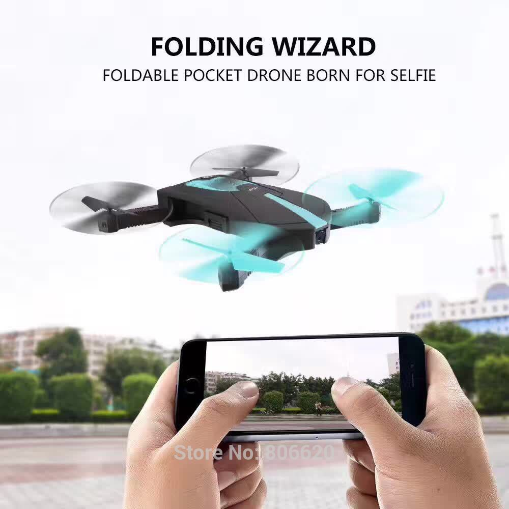 Low Cost HD Wifi Real-time Aerial Photography Foldable Toy Drone with No Head Mode & Mobile Phone & Tablet App Gravity Control_1