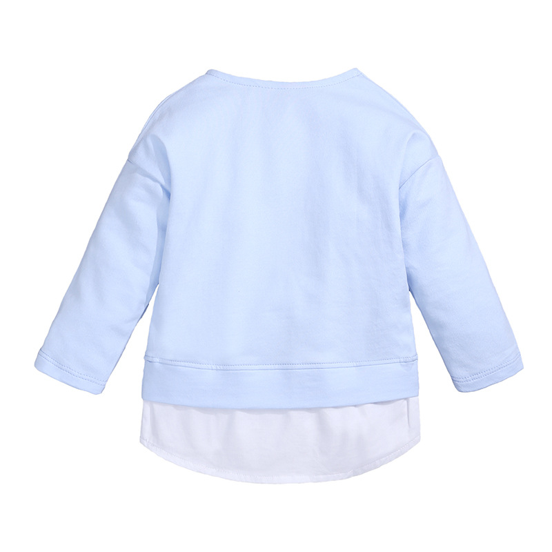 Kids Casual Sweater Autumn Baby Girls Cartoon Round Neck Sweater Children Long Sleeve Tops T-shirt clothes