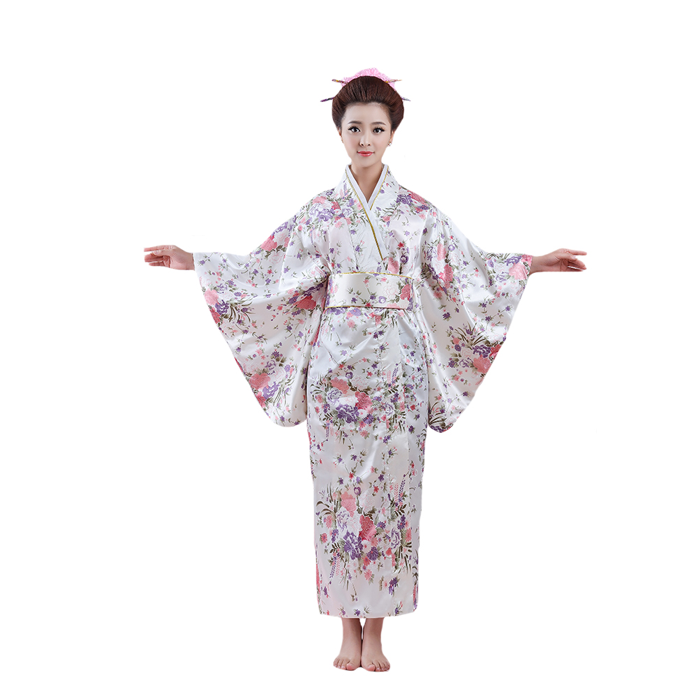 Damen Japanische Kimono Mantel Strickjacke Outwearlinie Bademantel Yukata Locker