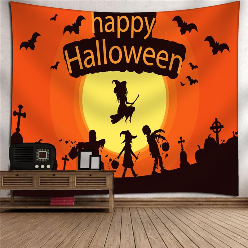 2018 Halloween Tapestry Blanket Throw Tapestries Carpet Bat Pumpkin Print Outdoor Picnic Blanket Hallowmas Decorations Bohemian Printing