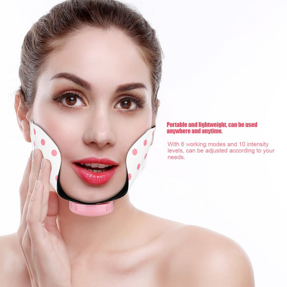 EMS Electric Face Lift Mask Adjustable Mini Facial ...