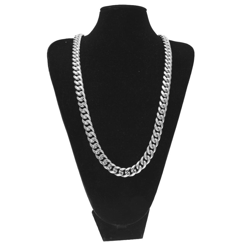 Fashion Brand Cuban Chains Jewelry For Mens Luxury Design 18k Gold Plated Hip Hop Necklaces Full Diamond Accessories