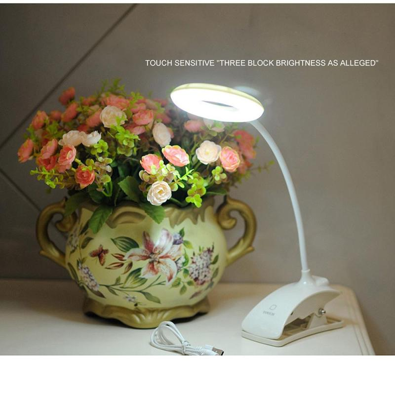 Creative Clip Table Lamps USB Rechargeable Touch Sensor Book Lights Creative LED Folding Eye Protection Reading Desk Lamps S3