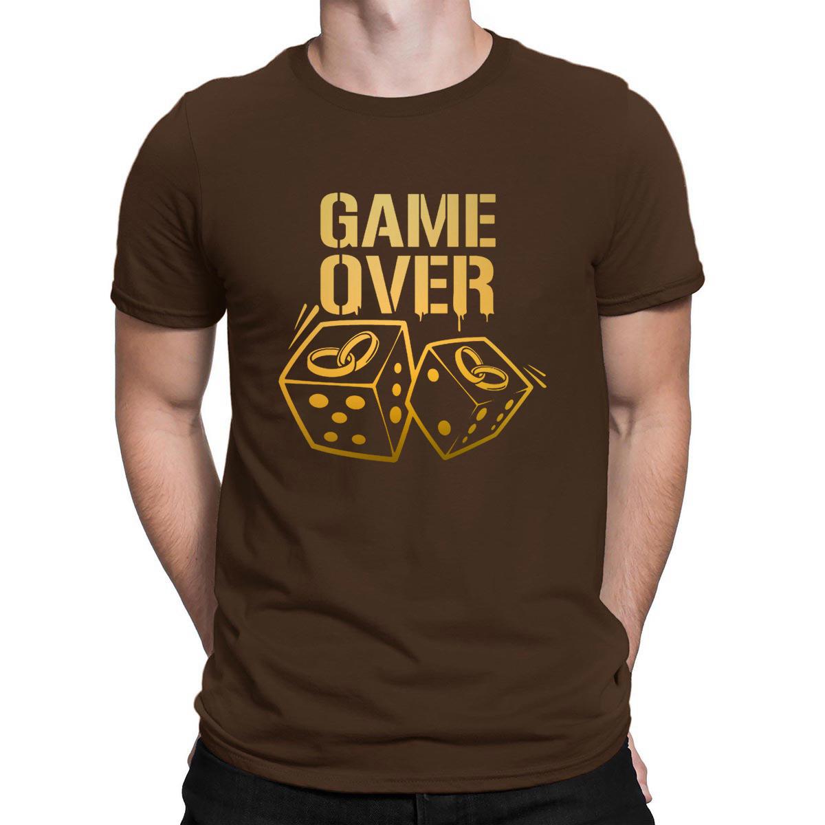 Game Over T-Shirt Best Pop Top Tee Original Euro Size Men's Tshirt Clever 2018 Printing Anlarach Graphic