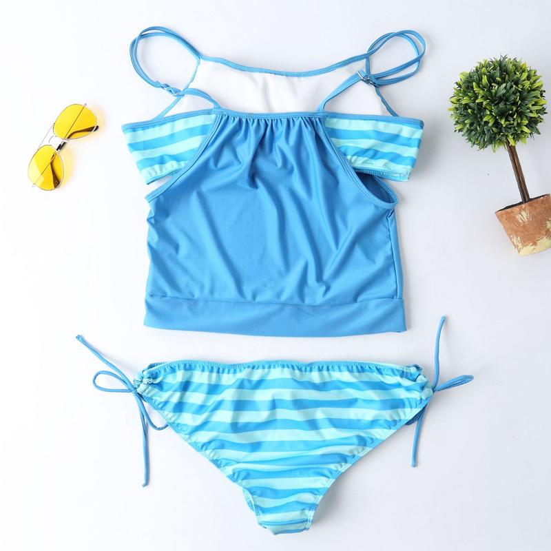 Maternity Swimwear Sky Blue back
