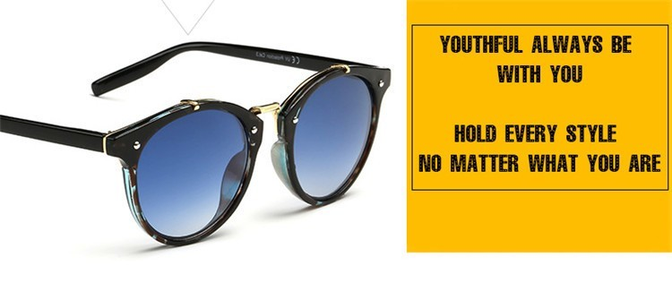 2016 Classic Brand Designer Sunglasses Women Men Retro Round Sun Glasses Woman shades Mirror Eyewear Lady Male Female Sunglass (23)