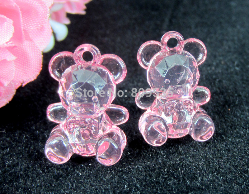 Free-Shipping-100pcs-Mini-Baby-Shower-Favor-Clear-Cute-Beat-Pink-Girl-Decor-Party-Decorations