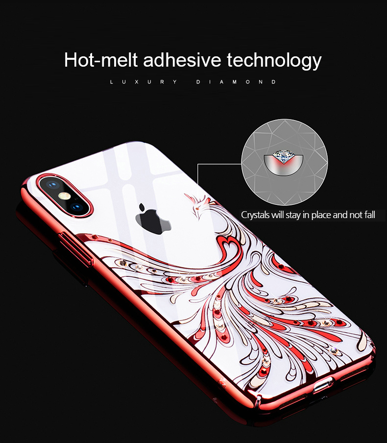 KINGXBAR Cover for iPhone Xs Cover Luxury Transparent Case for iPhone Xs Max Case Crystals from Swarovski for iPhoneXs Coque (4)