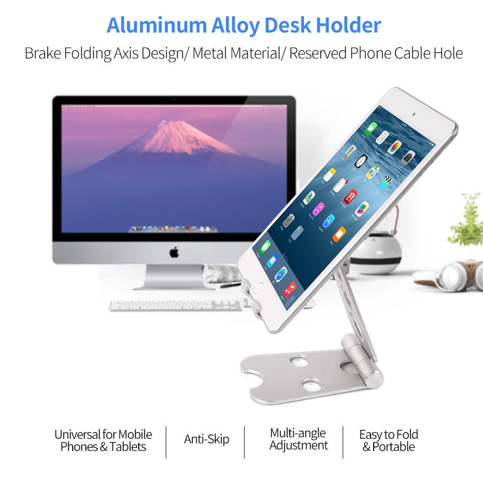Adaptable Foldable Tablet Phone Holder Stand Desk Bracket Holder Adjustable Angle Universal For Tablet Mobile Phone 5-11 Inch Mobile Phone Holders & Stands