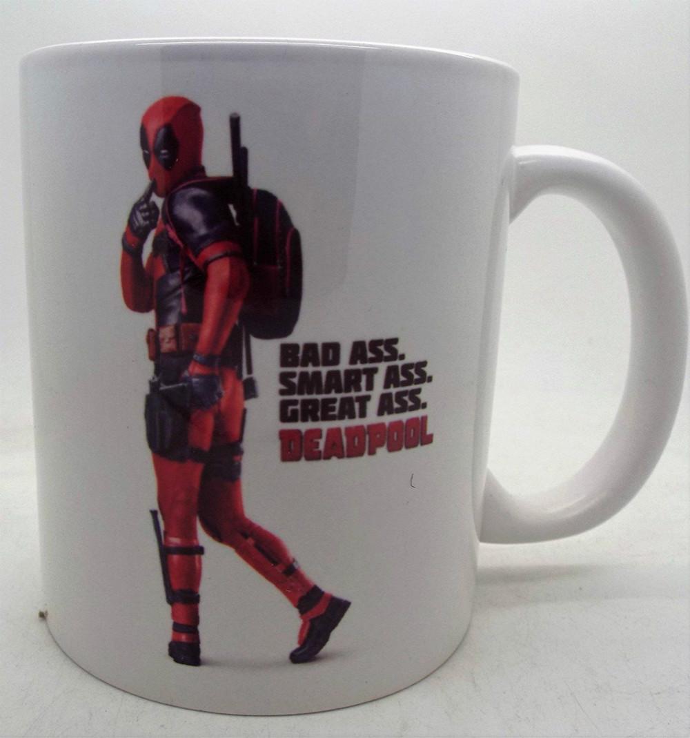 Deadpool Bad Ass Smart Ass Great Ceramic Mug