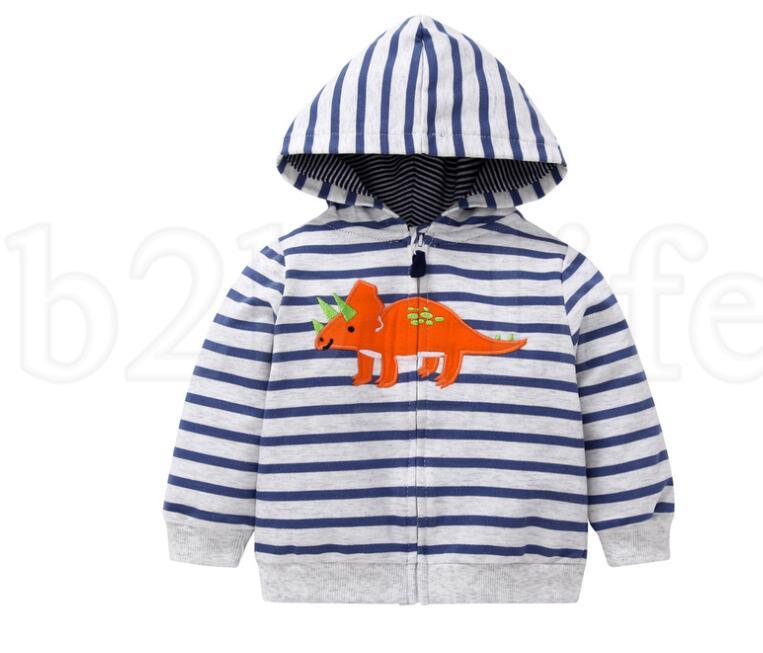 Enfant Sweatshirt Bébé Garçon filles Dinosaure Imprimer Outwear dessin animé animal À Capuche Manteau Enfants Printemps Automne Vêtements Dinosaure À Capuche KKA6200