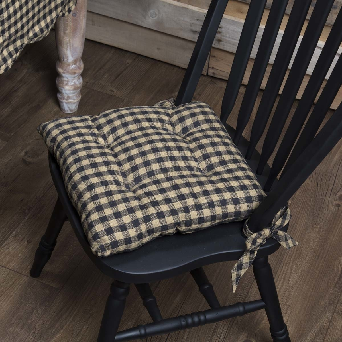 Sensational Primitive Tabletop Amp Kitchen Navy Check Chair Pad Sunbrella Patio Cushions Wicker Seat Cushions From Youergarden 22 62 Dhgate Com Ibusinesslaw Wood Chair Design Ideas Ibusinesslaworg