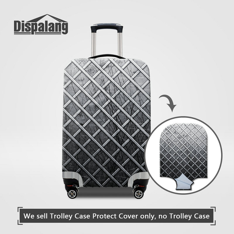 Cute 3D Abstract Colorful Geometric Pattern Luggage Protector Travel Luggage Cover Trolley Case Protective Cover Fits 18-32 Inch