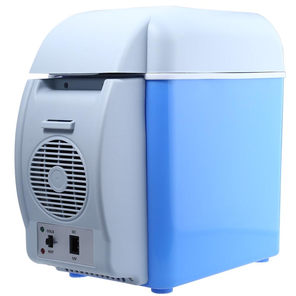 12V 7.5L Mini frigorifero da campeggio domestico Scatola frigo elettrico Scaldino elettrico Borsa da viaggio Congelatore portatile , Frigorifero domestico auto raffreddamento Mini frigorifero